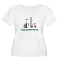 Happy Fathers Day Plus Size T-Shirt