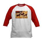 LASCAUX HORSES Kids Baseball Jersey