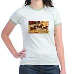 LASCAUX HORSES Jr. Ringer T-Shirt