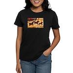 LASCAUX HORSES Women's Dark T-Shirt