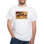 LASCAUX HORSES White T-Shirt