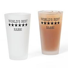 Worlds Best Rabbi Drinking Glass