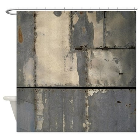 Industrial Metal Look Photo Image Shower Curtain By Pickyourperfectoriginals