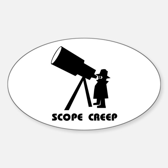 Scope Creep Oval Decal