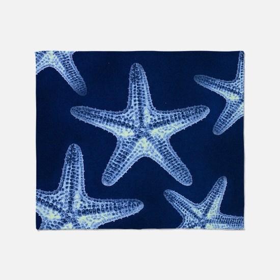 beach blue starfish Throw Blanket