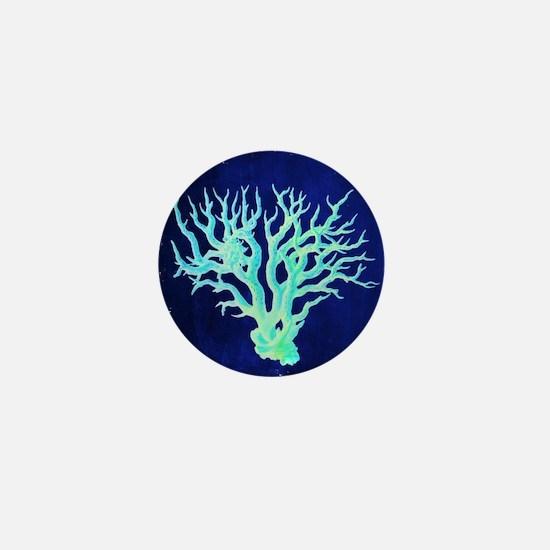 modern beach coral Mini Button