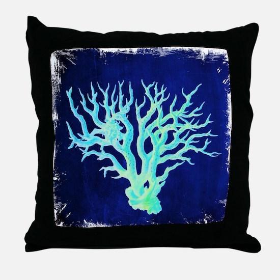 modern beach coral Throw Pillow