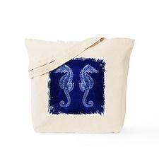 beach blue seahorse Tote Bag