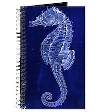 beach blue seahorse Journal