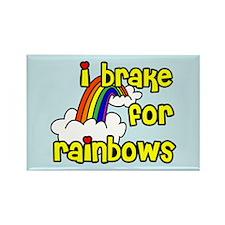 I Brake For Rainbows Rectangle Magnet