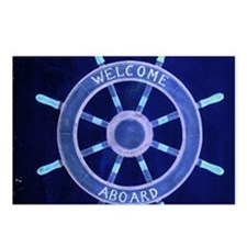 ship wheel nautical Postcards (Package of 8)