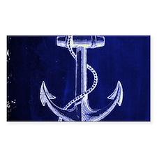 nautical navy blue anchor Decal
