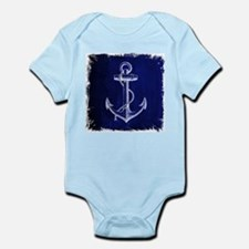 nautical navy blue anchor Body Suit