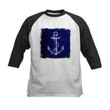 nautical navy blue anchor Baseball Jersey