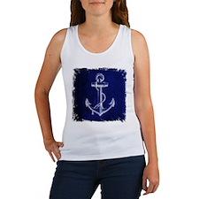 nautical navy blue anchor Tank Top