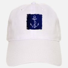 nautical navy blue anchor Baseball Baseball Cap