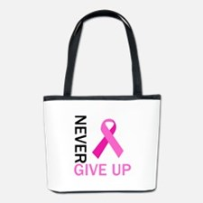 NEVER GIVE UP Bucket Bag