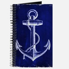 nautical navy blue anchor Journal