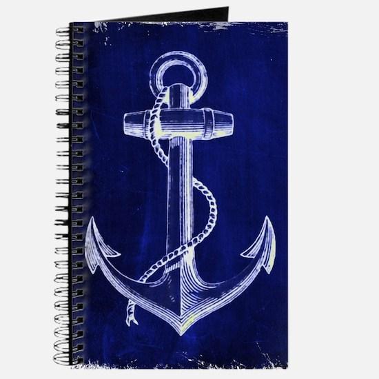 nautical navy blue anchor Journal