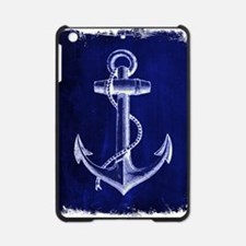 nautical navy blue anchor iPad Mini Case