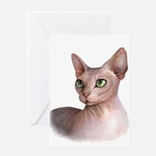 Cat 578 sphinx Greeting Cards