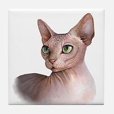 Cat 578 sphinx Tile Coaster