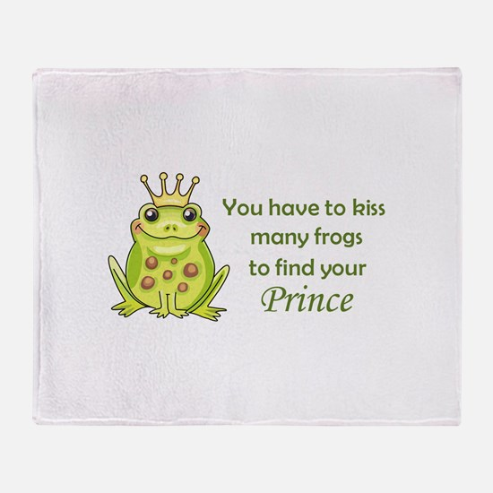 FROG PRINCE Throw Blanket