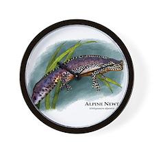 Alpine Newt Wall Clock