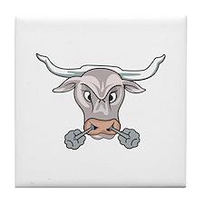 Snorting Bull Tile Coaster