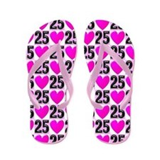 Pink Loving 25 Yr Old Flip Flops