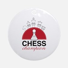 Chess Champion Ornament (Round)