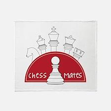 Chess Mates Throw Blanket