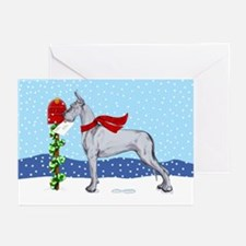 Great Dane Blue Mail Greeting Cards (Pk of 10)