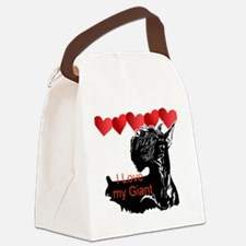 giant schnauzer hearts Canvas Lunch Bag