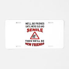 SENIOR FRIENDS Aluminum License Plate