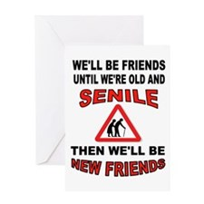SENIOR FRIENDS Greeting Cards
