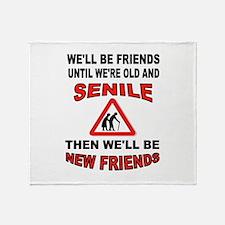 SENIOR FRIENDS Throw Blanket