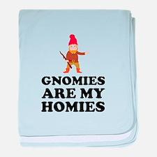 Gnomies Are My Homies baby blanket
