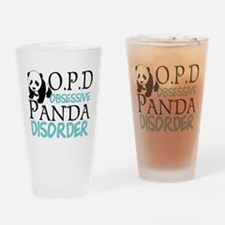 Cute Panda Drinking Glass