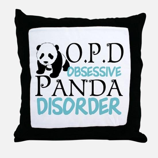 Cute Panda Throw Pillow
