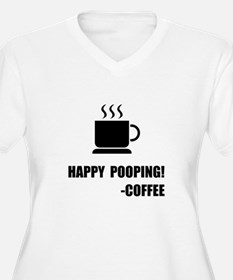 Happy Pooping Coffee Plus Size T-Shirt