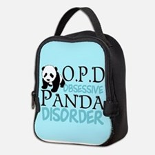 Cute Panda Neoprene Lunch Bag