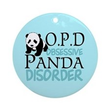 Cute Panda Ornament (Round)