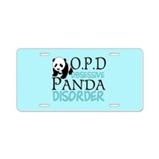 Cute Panda Aluminum License Plate