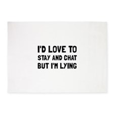 Stay Chat Lying 5'x7'Area Rug