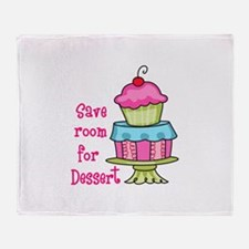 Save Room For Dessert Throw Blanket