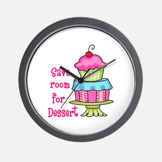 Save Room For Dessert Wall Clock