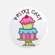 """Pastry Chef 3.5"""" Button"""