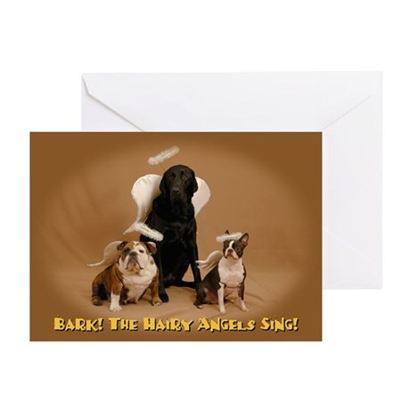 Hairy Angels-Gold Cards--CHRISTMAS (Pk of 10)