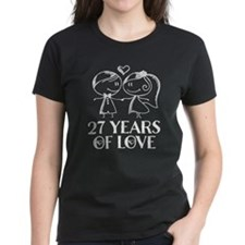 27th Anniversary chalk couple Tee
